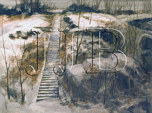 Larry Weber  - Winter Stairs