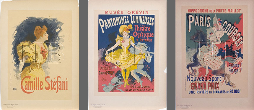 Jules Cheret - Set of 3 Affiche Posters(Large)